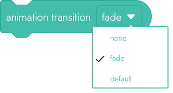 light - transition menu