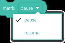 matrix pause modal